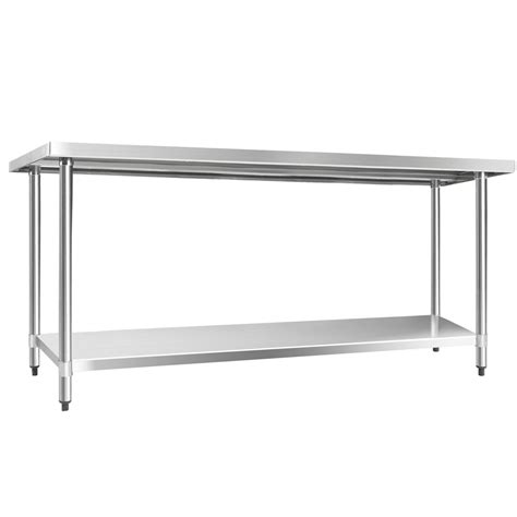 304 stainless steel kitchen work bench table 1829mm