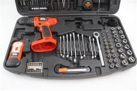 black decker tool kit black decker cd1402 drill tool kit property room