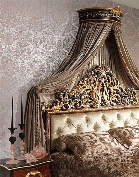 camere da letto con baldacchino da letto classica emperador black letto con