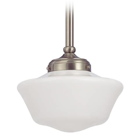 Period Pendant Lighting 10 Inch Satin Nickel Period Lighting Schoolhouse Mini Pendant Light Fa4 09 Ga10