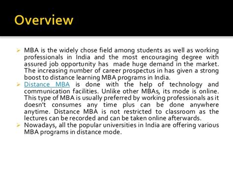 Mba In It India Distance by Top Distance Mba Colleges In India