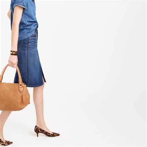 denim skirt front split dress