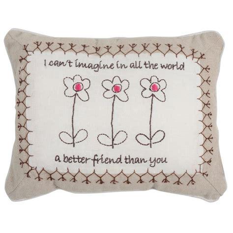Pillow Gift Message sentiments keepsake embroidered linen gift message cushion