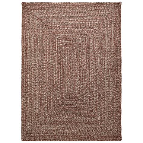 Rustic Outdoor Rugs Colonial Mills Braided Indoor Outdoor Area Rug 8x10 Rustic Tweed Save 76