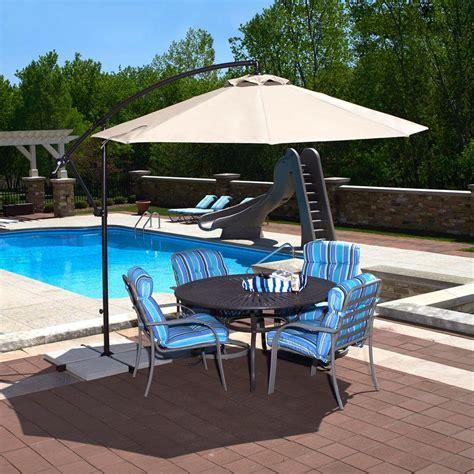 island umbrella santiago 10 ft octagonal cantilever patio