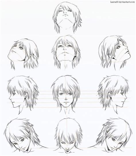 anime hairstyles guys tutorial anime guy drawing styles google search drawing how to