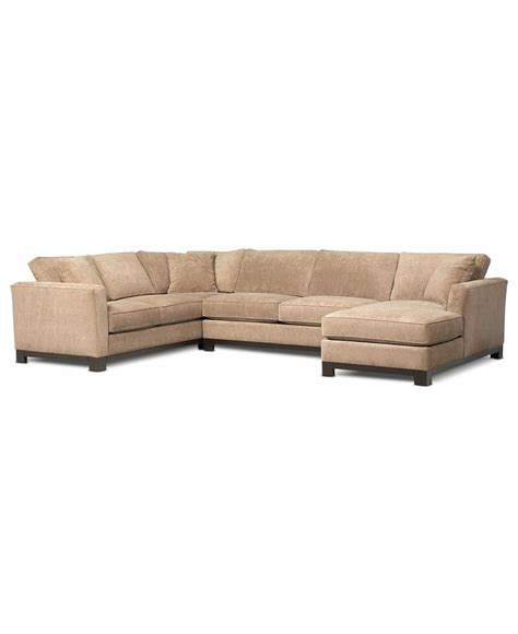 Kenton Fabric 3 Piece Chaise Sectional Sofa Kenton Fabric Sofa