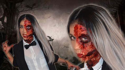 zombie tutorial liquid latex easy zombie makeup tutorial with liquid latex youtube
