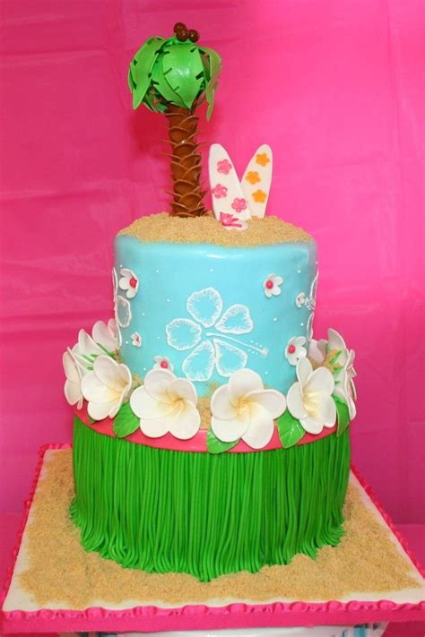 Luau Cake Decorations by 227 Best Hawaiian Cakes Images On Biscuits