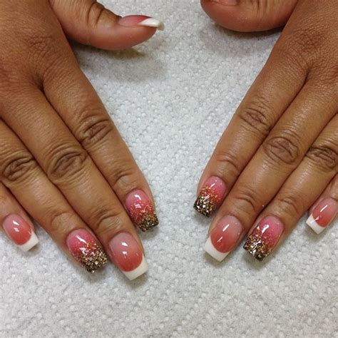 red nail beds tammy taylor colored acrylic over natural nails white
