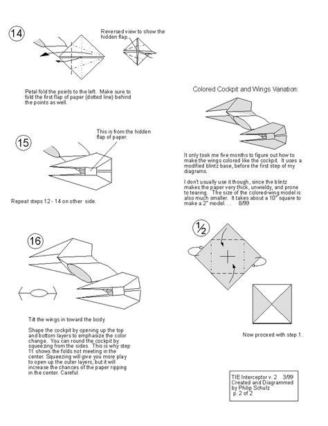 Wars Origami Tie Fighter - wars origami