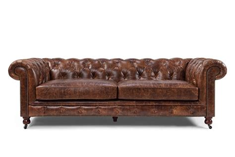 Kensington Leather Sofa Kensington Chesterfield Tufted Sofa And