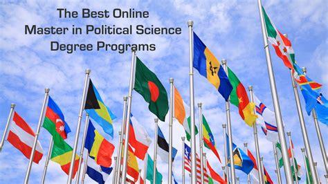 online political science degree programs us news the 5 best online master in political science degree