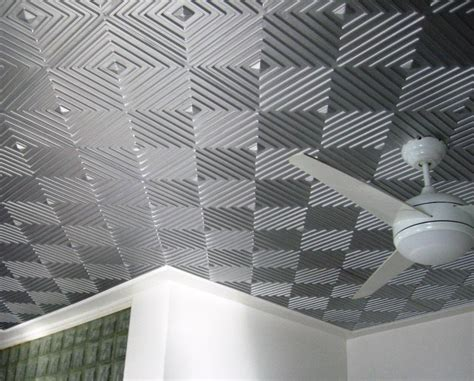 faux tin diy faux tin ceiling tiles for 99 cents per panel ideas modern ceiling design