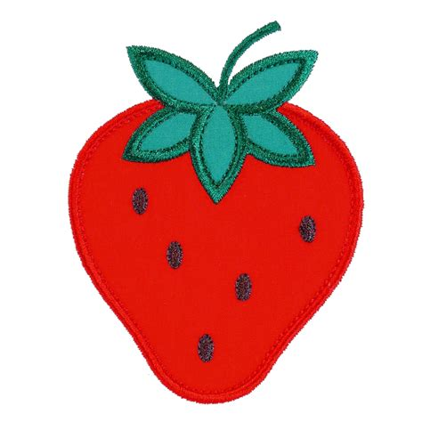 Embroidery Applique Design by Big Dreams Embroidery Strawberry Machine Embroidery