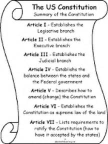 The United States Constitution Outline by The 7 Articles Of The Us Constitution