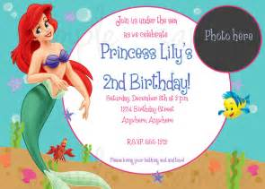 the gallery for gt little mermaid blank invitations