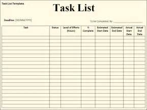 Templates For Lists Task List Template Free Formats Excel Word