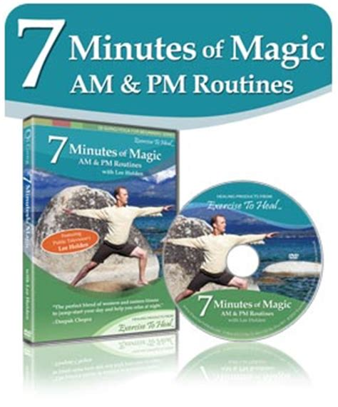 holden 7 minutes of magic dvd 7 minutes of magic am pm qi gong to energize and relax