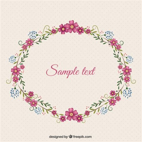 flower frame template floral frame template vector free