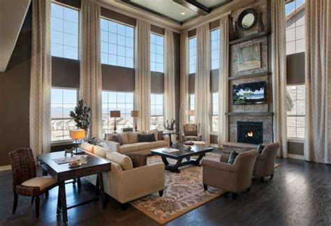 small family room decorating ideas  high ceiling