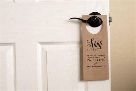 door hanger free wedding door hanger printable handmade and homegrown