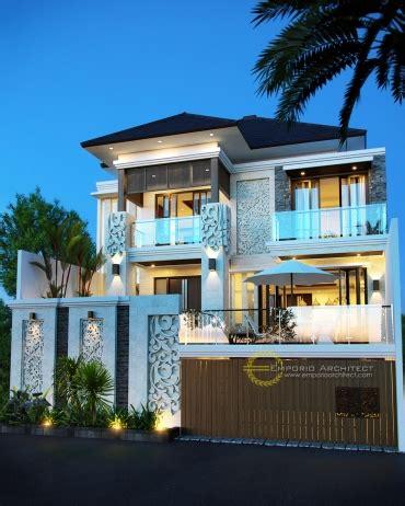 desain rumah mewah    lantai style villa bali modern  jakarta jasa arsitek