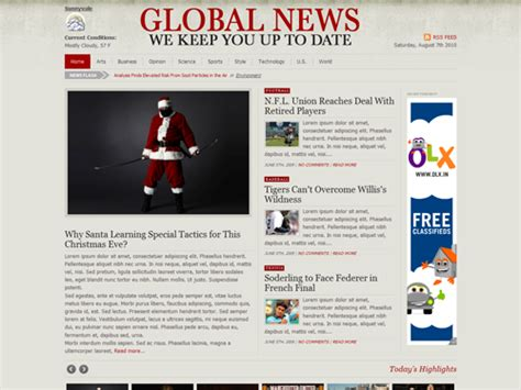 wordpress global layout best newspaper themes for wordpress smashing magazine
