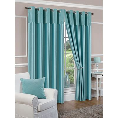 duck egg blue curtains lined faux silk lined duck egg blue eyelet curtains