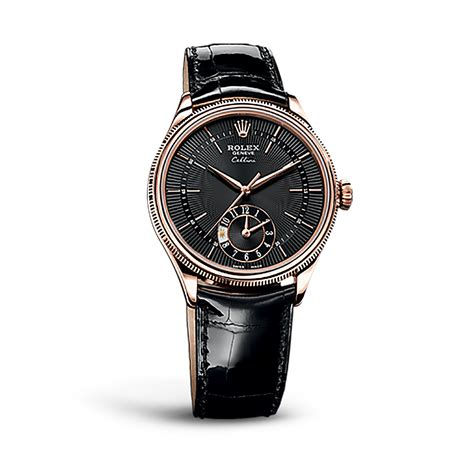 Rolex Ls20 Rosegold rolex cellini dual time 50525 gold black guilloche world s best