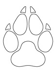 wolf stencil template wolf paw print pattern use the printable outline for
