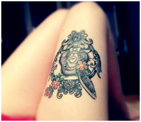 tattoos for girls on thigh 30 thigh tattoos that are sure to get attention