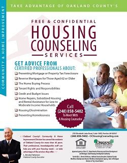 housing counseling services farmington mi oakland county programs