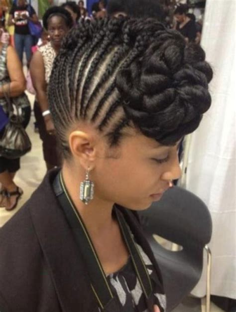 new and different side mohawks with weave braided bun mohawk hairstyle natural hair updo