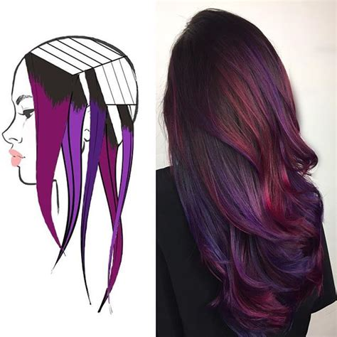 foil placement for purple bangs broke down my sectioning for behindthechair com stay