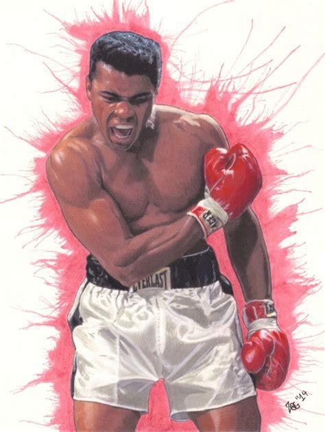 Pencil Alis muhammad ali drawing boxing colored pencil ink
