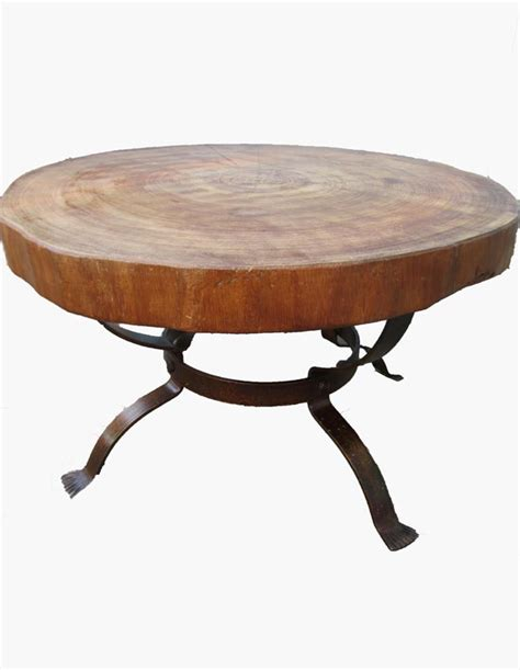 vintage tree trunk coffee table for sale at pamono