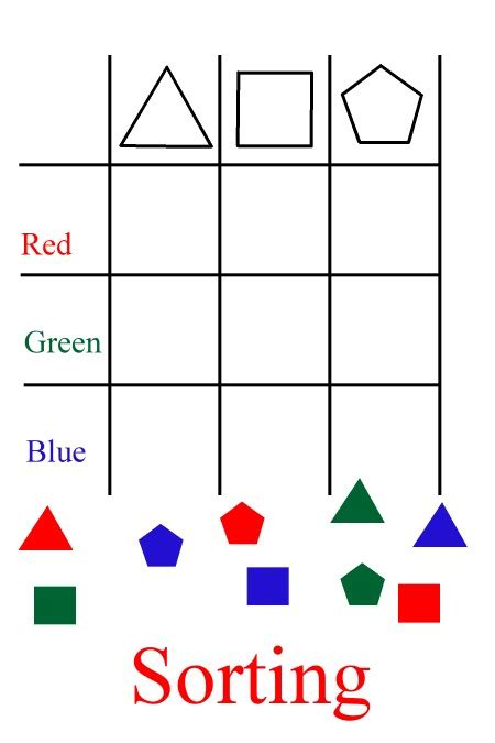 Sorting Shapes Worksheets For Kindergarten printable kindergarten math worksheets