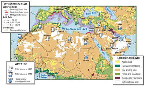 northern africa map africa southwest asia and central map with physical