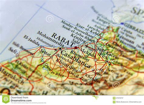 geographische karte von marokko mit hauptstadt rabat