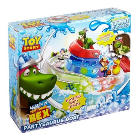 toy story bathtub party toy story rex partysaurus boat light up bathtub toy new ebay