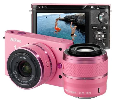 Kamera Nikon J1 Pink nikon 1 j1 system with two lens zoom kit pink