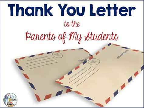 thank you letter to parents 1000 ideas about letter to parents on