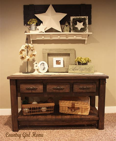 country girl home decor country girl home sofa table add on
