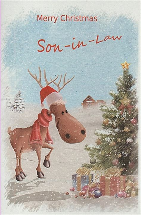 male relation christmas cards merry christmas son  law