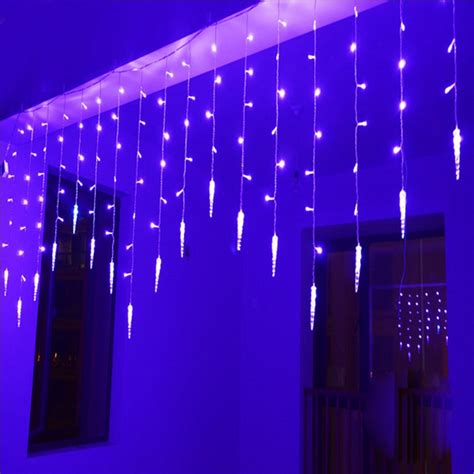 led christmas curtain lights holiday lighting 2m 0 6m 60leds waterproof string light