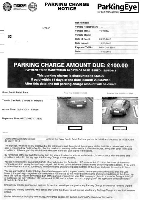 Appeal Letter Against Parking Parking Eye Appeals