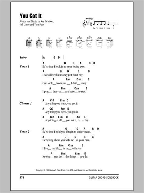 Roy Orbison Guitar Chords