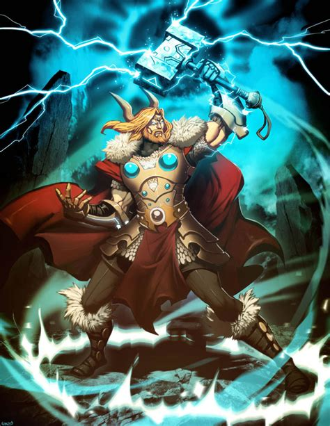 ancient god thor illustrations of ancient gods and mythology by gonzalo