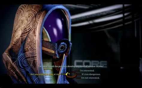 Tali Skipping mass effect 2 shepard flirts with tali